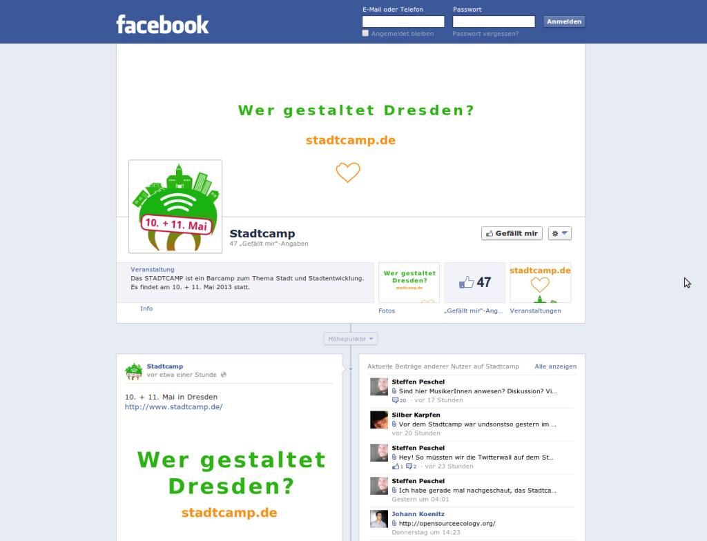STADTCAMP auf Facebook