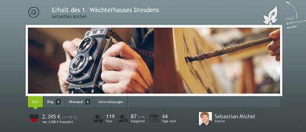 Wächterhaus Dresden auf Startnext
